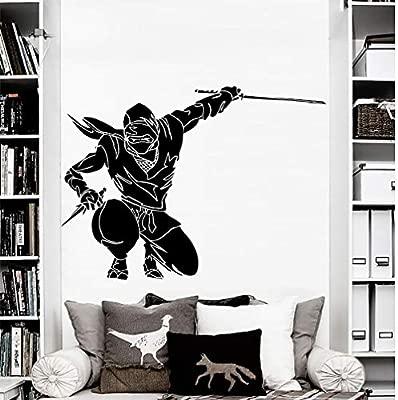 yuandp Etiqueta de la Pared Ninja Guerrero Japonés Etiqueta ...