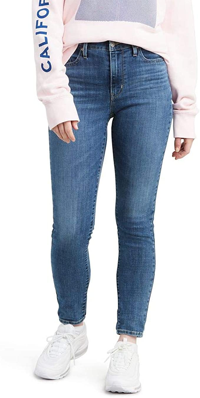 GENUINE LEVI'S WOMENS 714 STRAIGHT FIT MID RISE JEANS IN WONDER LOVE