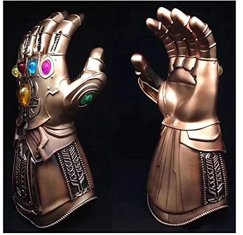 VIET STAR Thanos Infinite Infinity Gauntlet with Led PVC Gloves for Halloween Cosplay Movie Accessories Props Gift- Complete Series Merchandise - Legends Gifts Movies Comic Toys -