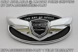 genesis coupe emblem kit - Buy-accessories-part© Genesis Coupe Emblem Set Kit Front Rear Trunk Grille Logo Badge KDM OEM Wing 3 Year Warranty Hyundai 2010 2011 2012 2013 2014 2015 2016 2017 1 Silver Chrome Art of Speed