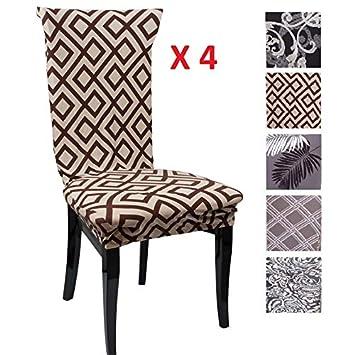 Amazon.com: CreativesHome - 4 fundas para sillas Ikea ...