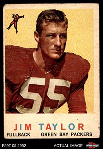1959 Topps # 155 Jim Taylor Green Bay Packers (Football Card) Dean's Cards 2 - GOOD Packers ()