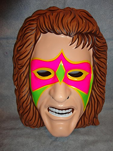 The Ultimate Warrior WCW WWE Wrestler PVC Mask Kid Size Rubies Halloween Dress Up -