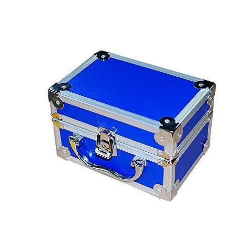 Careshine Aluminum Box for Dental Surgical Medical Binocular Loupes Dentist Loupe Box Blue