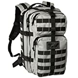 Tactical Backpack - Exos Bravo Tactical Assault Backpack Rucksack. Great as a Bug Out Bag, Daypack, or Go Bag; for Hiking, or Camping. Molle equipped & hydration pack ready (Grey/Black)