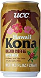 kona iced coffee - UCC Hawaii Kona Blend Coffee with Milk, 11.3-Ounce Cans (Pack of 24)