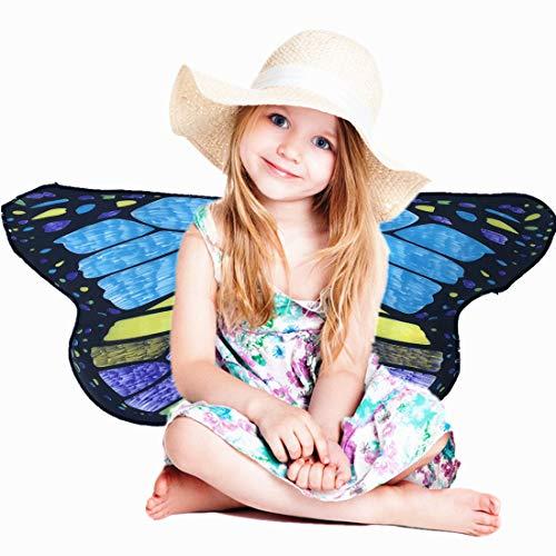 Shireake Baby Cartoon DIY Butterfly WingsCostume-Play Butterfly Wings for Kids]()
