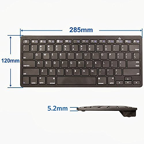 Anker Bluetooth Ultra-Slim Keyboard for iPad Air 2 / Air, iPad mini 3 / mini 2 / mini, iPad 4 / 3 / 2, Galaxy Tabs and Other Mobile Devices (Black) by Anker (Image #5)
