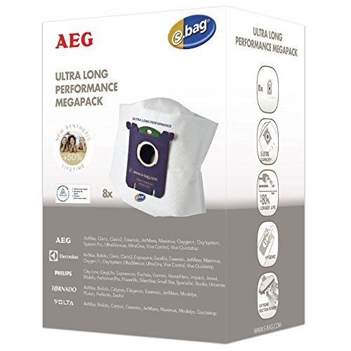 AEG megapack  pour modèles Ultra Long Perform s-bag aEG ultraOne, ultraSilencer,  8 sacs à poussière et 1 filtre moteur 1 micro filtre