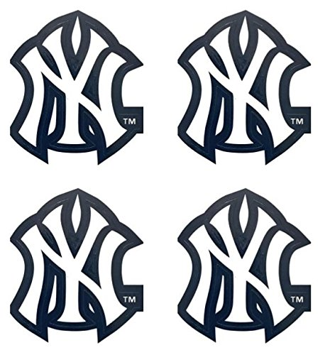 MLB 4 New York Yankees Team Logo Stickers Set Individual Official Major League Baseball Helmet Emblems NY Yanks Bronx Bombers