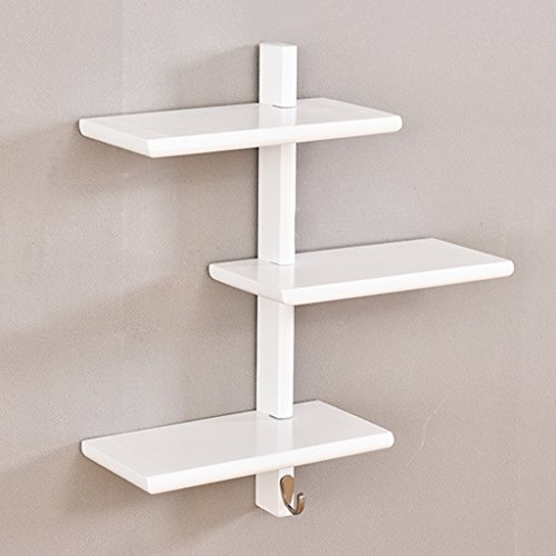 Cabinet Pine Cd Storage (Wall-mounted Bookshelves Multi-layer Solid Pine Wood Partition Shelf Living Room Bedroom CD DVD Storage Unit Display Stand Flower Rack,4752cm (Color : White))