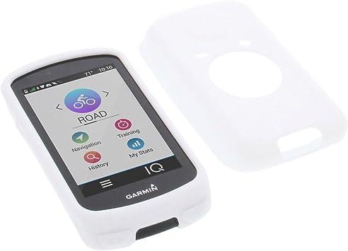 Cover Case Housse silicone blanc pour Garmin Edge 800 Edge 810