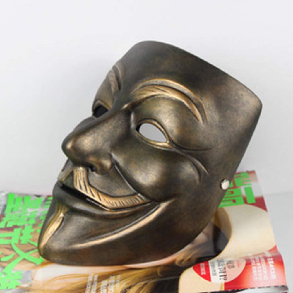 BERID Maschera di Halloween Clown, Creativo Maschera Testa in Resina Diverdeente, Partito, Maschera E Maschere,Bronze