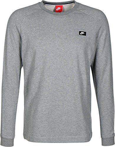 Nike Modern Crew Men's Sweat Shirt Grey Casual Regular Fashion 805126-091 (Size XL)