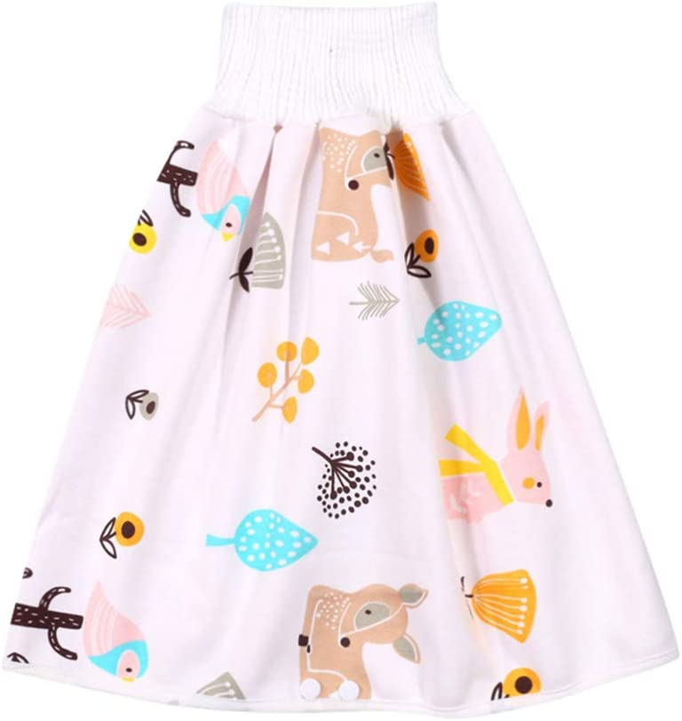 【7-10 Days Delivery】36Guidance Unisex Baby Reusable Cotton Diaper and Potty Training Skirt Strong Absorption and Washable Color B, S: for 0-4 Years