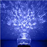 LED Projector Light - YINUO LIGHT Magical Rotating Kaleidoscope Waterproof Spotlight flame Lightshow Projection Christmas Halloween Decorations for Home - Landscape - Yard - Swimming Pool (Blue-Warm White)