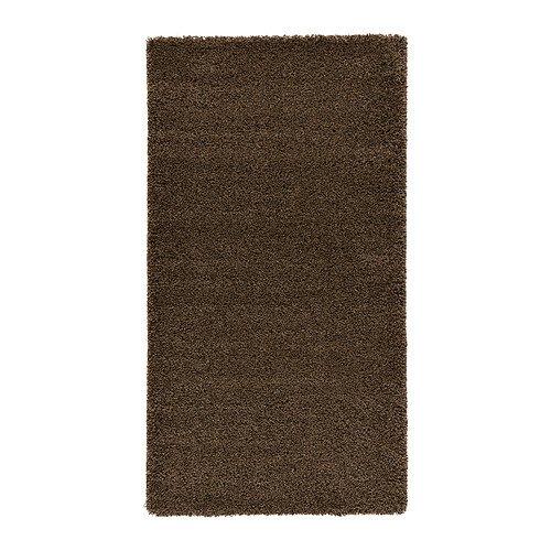 IKEA ADUM - Rug High Pile Light Brown - 80x150 Cm