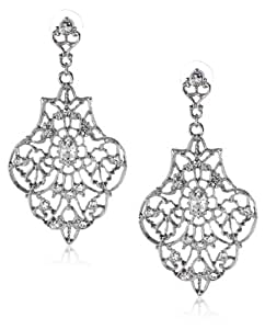 Nina 'Felice' Large Filigree Drop Earrings