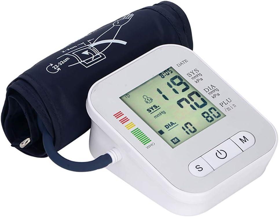 Tensiómetros de Brazo Memoria,Tensiómetro Automático de Muñeca para Uso Doméstico/Médico,Presión Arterial y Pulso de frecuencia cardíaca detección