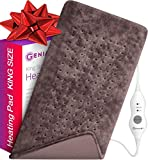 XL Heating Pad - Premium Electric Heating Pad for Moist and Dry Heat Therapy - Fast Neck/Shoulder/Back Pain Relief at Home - 12