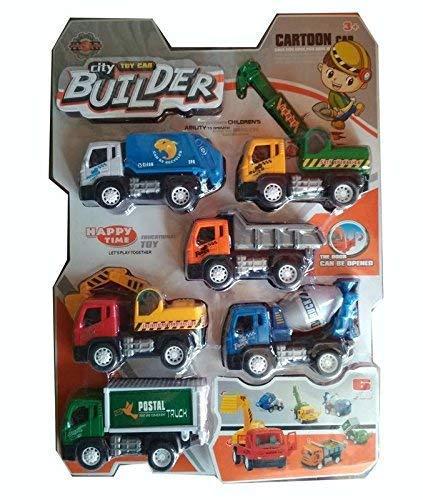 Buy SAMSAR City Builder Construction Trucks for Kids (Set of