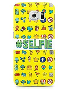 Selfie Samsung S6 3D wrap around Case - Hashtag Selfie Icons