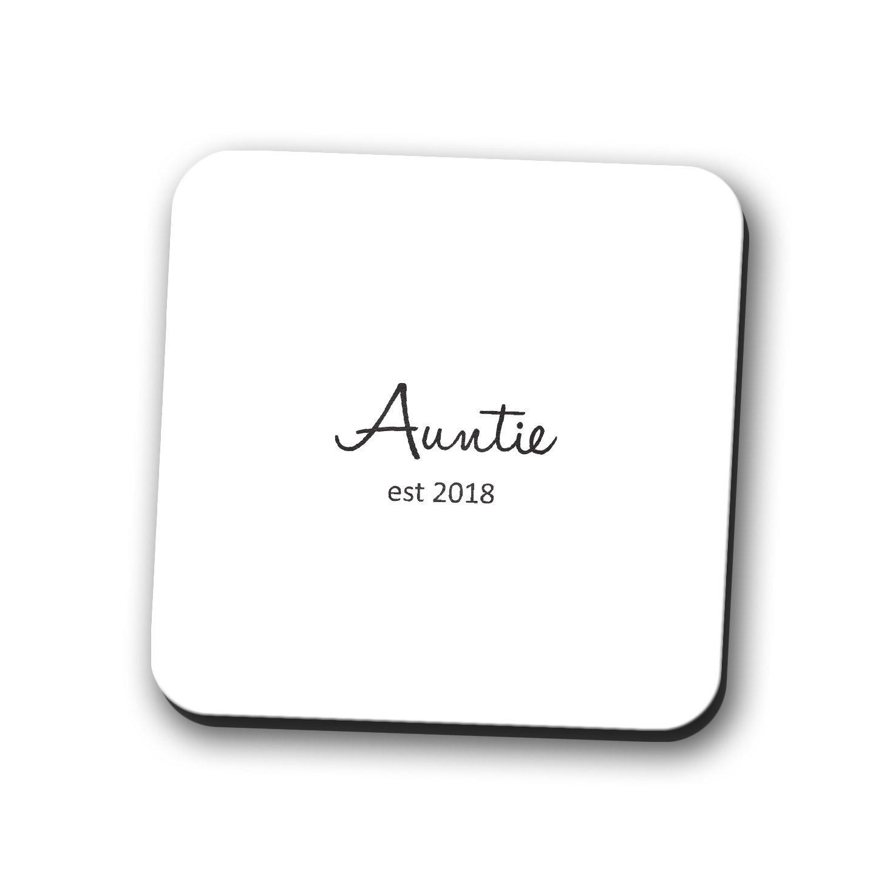 Auntie Est。2018コースターマグマット母の日ギフト新しいシャワーベビー正方形9 cmx9 cm   B076D6ZV63
