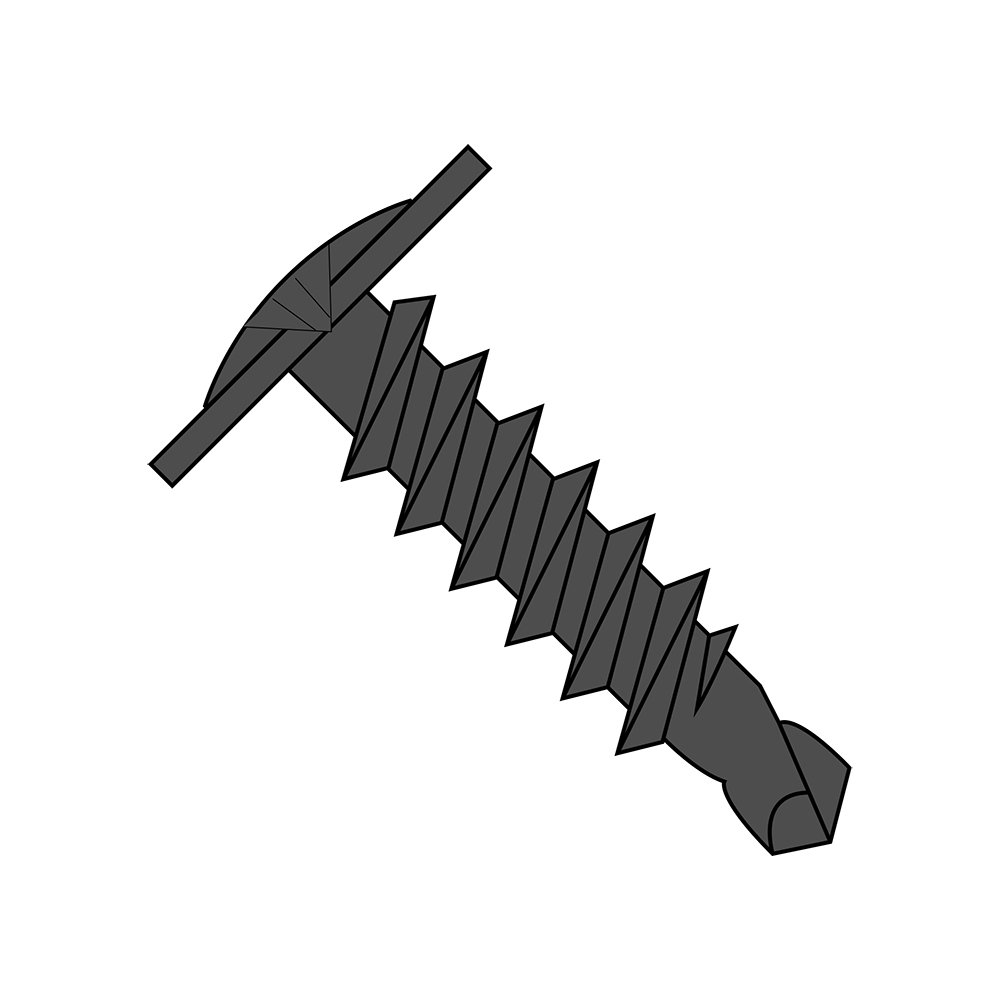 1//2 Length Pack of 100 Modified Truss Head Steel Self-Drilling Screw Phillips Drive Small Parts 0608KPMB #6-20 Thread Size Pack of 100 #2 Drill Point 1//2 Length Black Phosphate Finish
