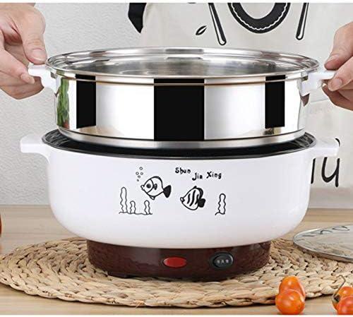 220 V Cocina eléctrica multifuncional Cacerola eléctrica Olla eléctrica de cocción Máquina Hotpot Fideos Huevos de arroz Vapor de sopa Olla,EUPLUG,B: Amazon.es: Hogar