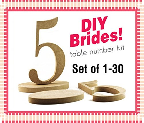 Amazon diy wooden table numbers 1 30 do it yourself kit diy wooden table numbers 1 30 do it yourself kit wedding table numbers solutioingenieria Image collections