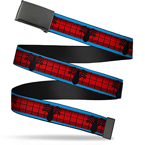 "Buckle-Down Men's Buckle-Down Web Belt Spider-Man 1.25"", spider/man/WB-BK-1.25-WSPD040, Regular"