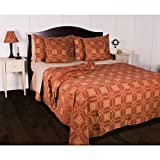 Smithfield Jacquard Bedcover Queen Barn Red