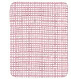 Carousel Designs Pink Watercolor Plaid Crib Comforter