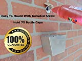 Wall Mounted Bottle Opener and Stainless Steeel Wall Mount Bottle Cap Catcher with Screws for Beer and Soda Set