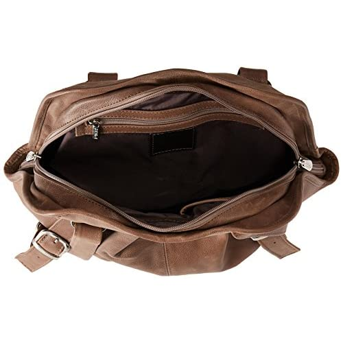 Piel Leather Convertible Buckle Backpack Shoulder Bag, Toffee, One Size