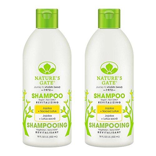Nature's Gate Jojoba Revitalizing Shampoo, Vegan Non-GMO, 18