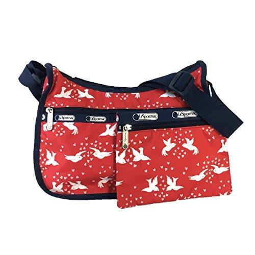LeSportsac Classic Hobo (Love Birds Red) (Signature Hobo Classic Bag)