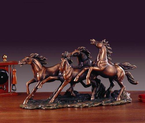 Four Horses Bronze Finished Statue – Sculpture