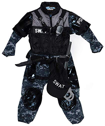 Teetot & Co. Inc Adventure Factory SWAT Team Costume (Child Size 3-4)