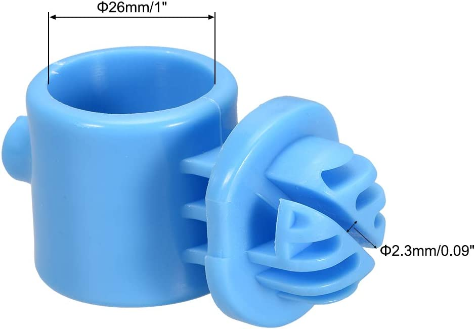 uxcell 10pcs Ring Insulator Wood Post Polyrope Insulator for Electric Fence Wire Blue