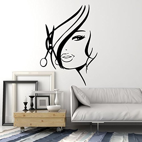 Wall Decal Hair Beauty Salon Studio Cuttery Barbershop Spa Hot Sexy Girl Woman (z736)