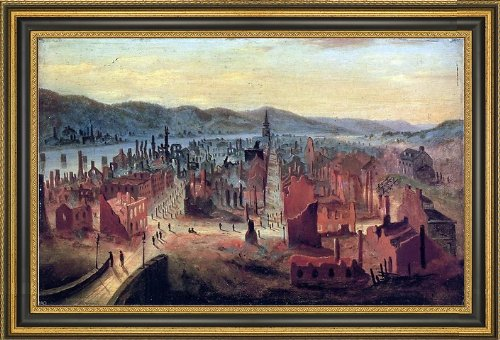Coventry Small Wall (William Coventry Wall Pittsburgh after the Fire 1845 from Boyd\'s Hill - 18