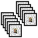 Americanflat 10 Pack - 14x14 Wedding Signature Picture Frames - Display Pictures 5x7 with Mats - Display Pictures 14x14 Without Mats - Made with Glass