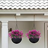 NAHUAA 4PCS Outdoor Fake Plants Artificial Shrubs