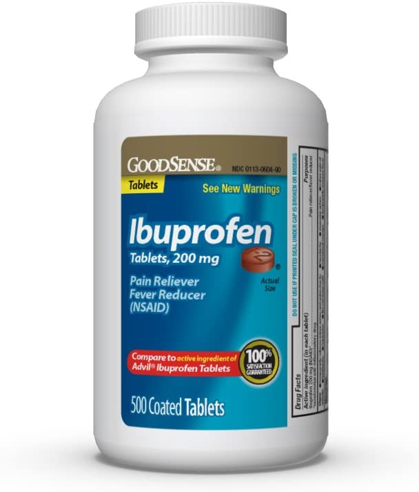 Amazon Com Goodsense 200 Mg Ibuprofen Tablets Fever Reducer And Pain Relief From Body Aches Headache Arthritis Pain And More 500 Count Health Personal Care