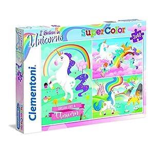 Clementoni Clementoni 25231 Supercolor Unicorno Brilliant 3 X 48 Pices Puzzle Unicorno 3x48 Pezzi Multicolore 25231