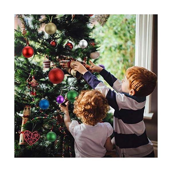 LessMo Palle di Natale (Rosso, 8cm) 3 spesavip