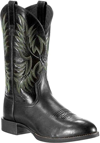 Ariat Mens Heritage Stockman Cowboy Da Cowboy Nero Deertan
