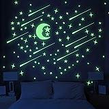 UNOMOR Glow in Dark Stars and Moon, Glowing Stars