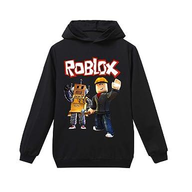 Roblox Big Hoodies para Niños Sudadera de Manga Larga Sudadera Deportiva para Hombre y Mujer Informal Sudadera con Capucha Fleece Abrigo con Capucha: ...